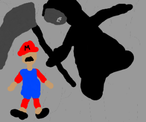 Death sneaks up on Mario