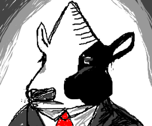 Conehead cow