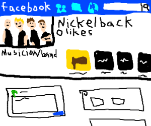 facebook profile of a pathetic band