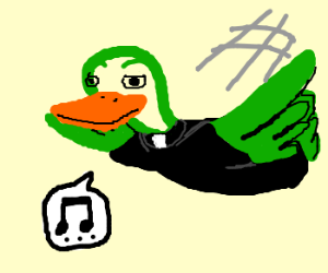 duck priest calmly glides away