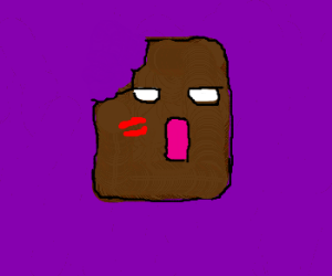 Chocolate hunk has a kissy face