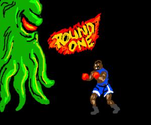 Balrog fights cthulhu