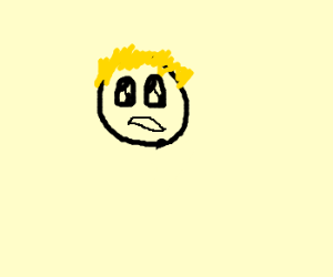 Blonde anime guy is indifferent
