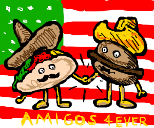 Mexican and US icons becoming pals.