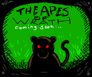 "coming soon poster of ""The Apes of Wrath"""