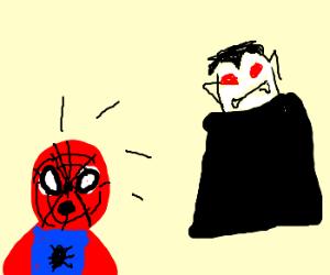 spiderman meets dracula