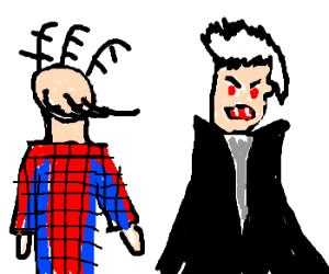 vampire tries to eat spiderman