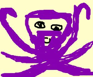 purple tentacled alien