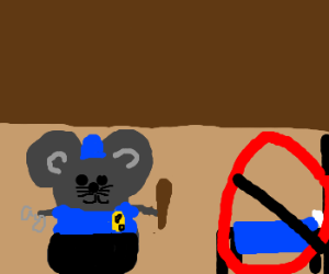 The mouse police never sleeps.