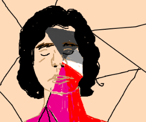Gotye covered in paint from his music video