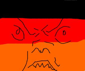 Angry German Flag.