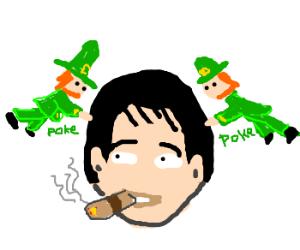 Leprechauns like to poke smokers