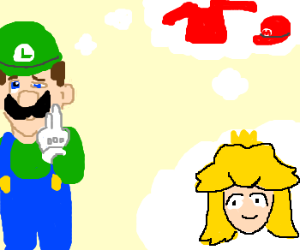 If Luigi dresses as Mario, he'll get Peach!