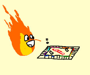 In the 4th dimension fire plays board games