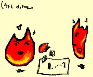 Flame elementals play Sub-Dimensional D&D