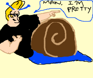 Johnny Bravo Is A Snail Now.  Why Not?