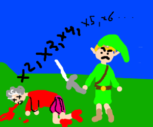 Link has killed an old lady again