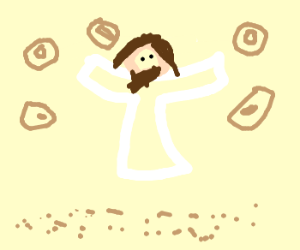 Praising the Lord results in donut rain.