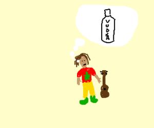 Rasta loves WaterVodka (even dreams of it)
