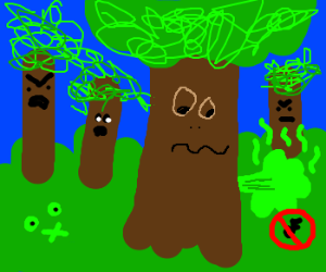 Tree in a forest lets out a silent fart