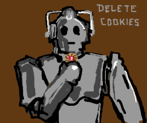 robot given order to delete cookies,buteatsone