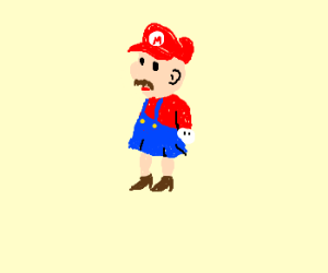Mario is a woman on the inside.