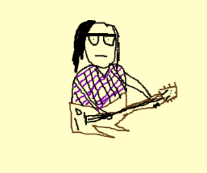 skrillex is playing guitar