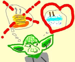 Yoda likes cake more than pancakes