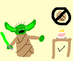 Yoda believes the cake is a truth