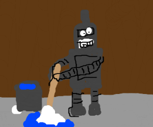 Bender retires from bending to janitorial work