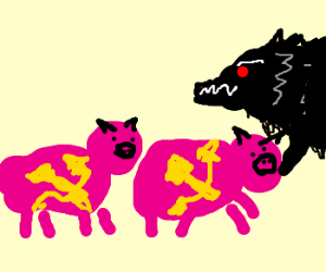 Demon wolf and the two russian pigs