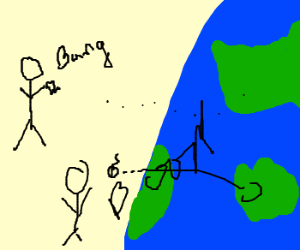 The vicious knids attack earth
