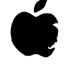 Steve Jobs Apple Logo Face