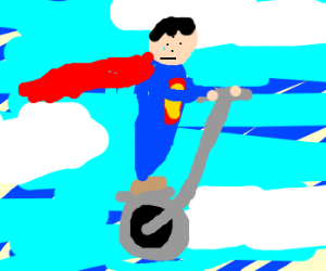 Superman's Flying Segway