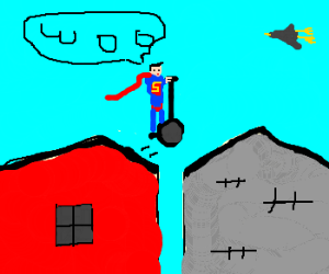 Superman segway  roof jumping