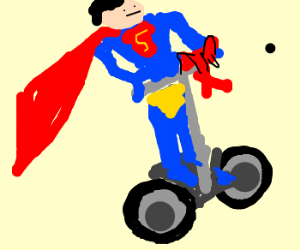 Superman got a Segway for Christmas