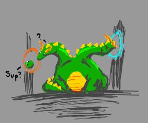 Portals confusing multiheaded dragon