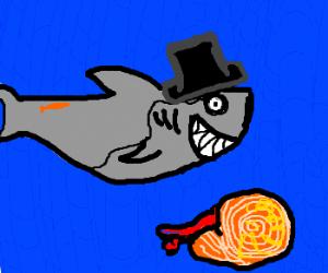 Sir Shark dislikes Nautilus trespassing