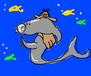 Dapper Inspector Shark suits up