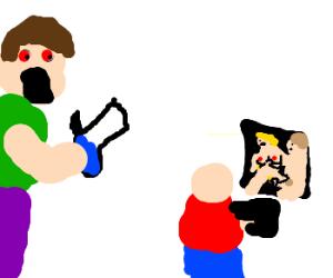 blazed guy catches kid on brazzers