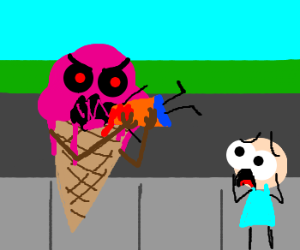 Angry people eating ice cream
