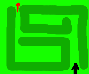 Easiest maze ever, or so it seems.