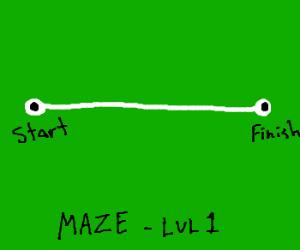 World's easiest maze