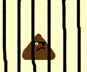 Pirate Hershey's Kiss locked behind bars
