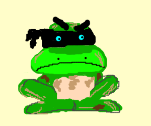 Badass Ninja Frog Drawception