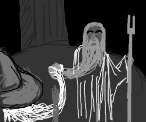 Battle of prehensile beard: Gandalf vs Saruman