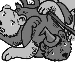 gandalfs bear gets tangled with sarumans