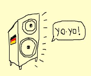 German speaker yells Yolo!