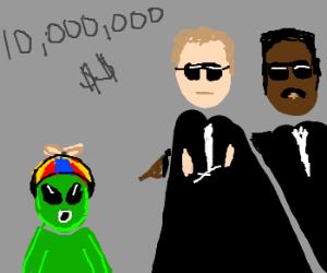 Men in black hold alien child for ransom!