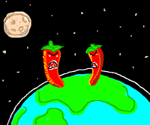 Cannibalistic red peppers taking over Earth!